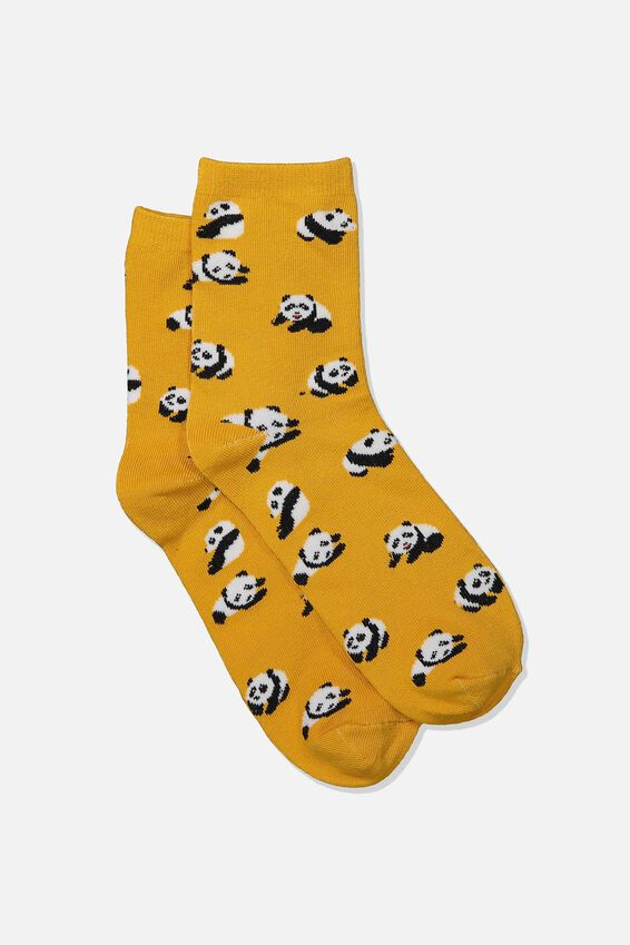 Fun Times Socks, PANDA TAN