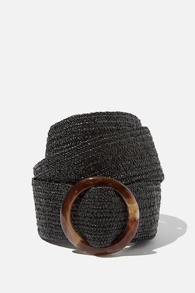 Mya Plait Belt, BLACK