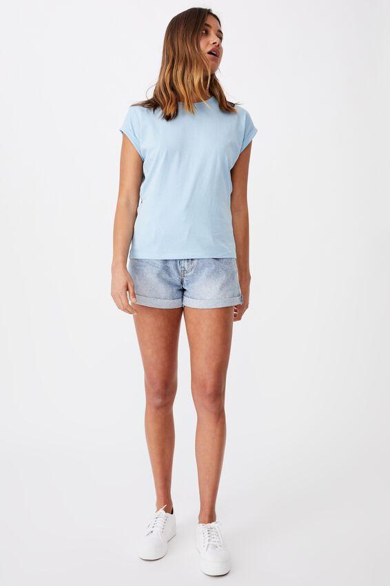 Kaya Crew Neck T-Shirt, CAPRI BLUE