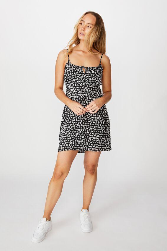 Caroline Tie Front Dress, GRETA FLORAL