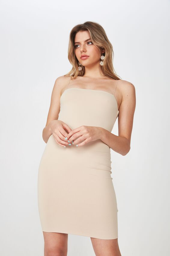 Party Elastic Strap Dress, FRAPPE