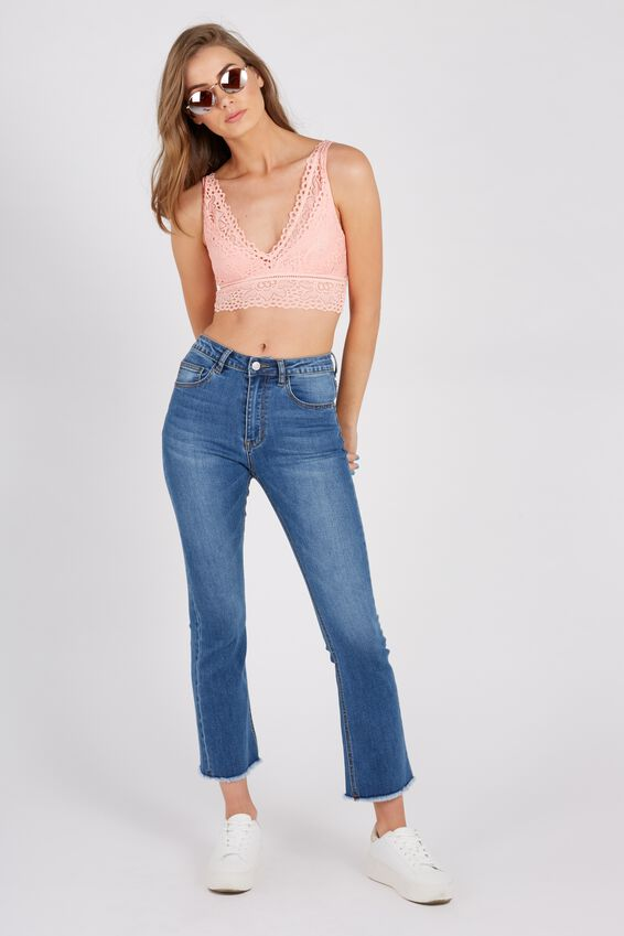 Kick Flare Crop Denim Jean at Supre in Broadmeadows, VIC | Tuggl