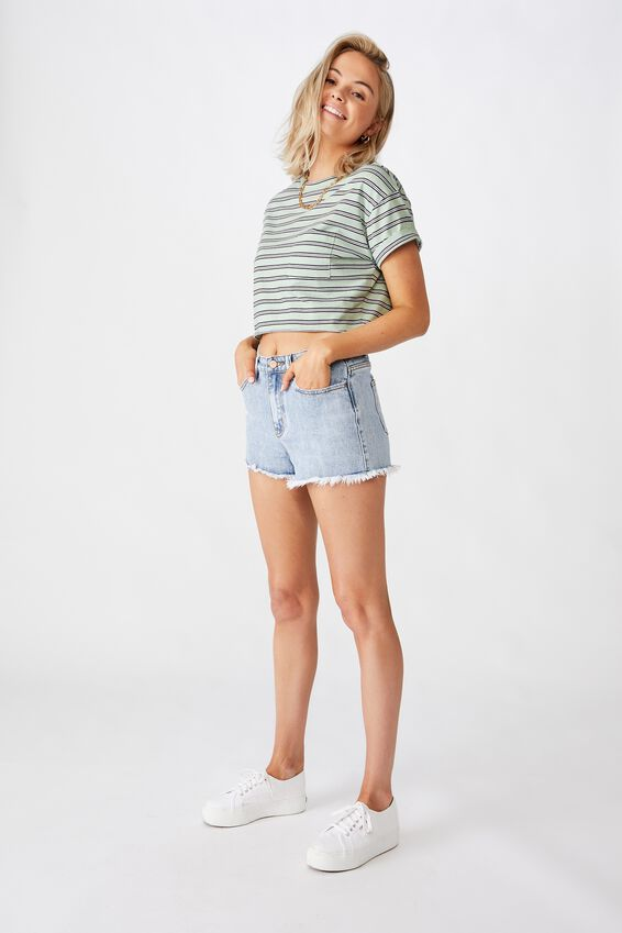 Bondi Denim Short, SERENE BLUE