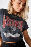Wisconsin College Crop Tee, VINTAGE WASHED NAVY WISCONSIN COLLEGE
