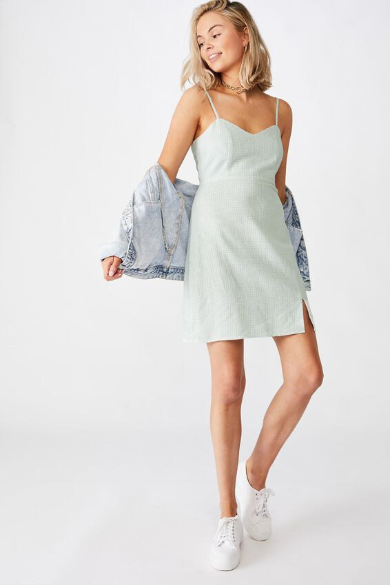 Milan Cami Dress, CHECK MINT