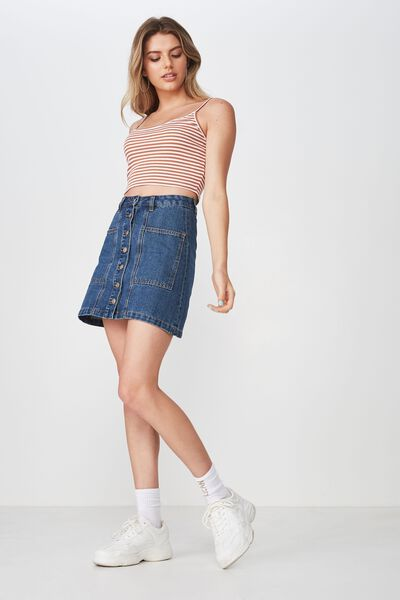 f58b847ed39 Olsen Button Through Mini Skirt