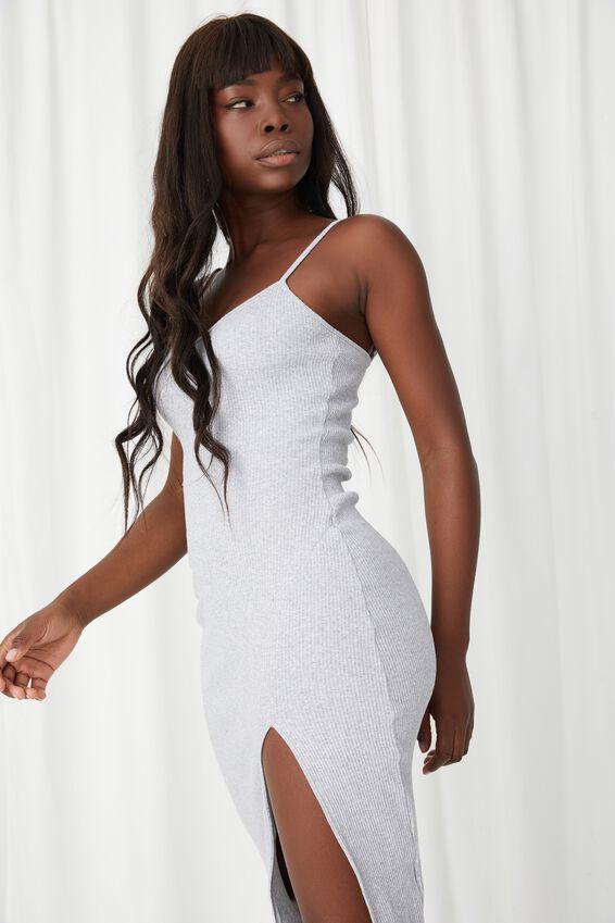 Gemma Split Midi Dress, GREY MARLE