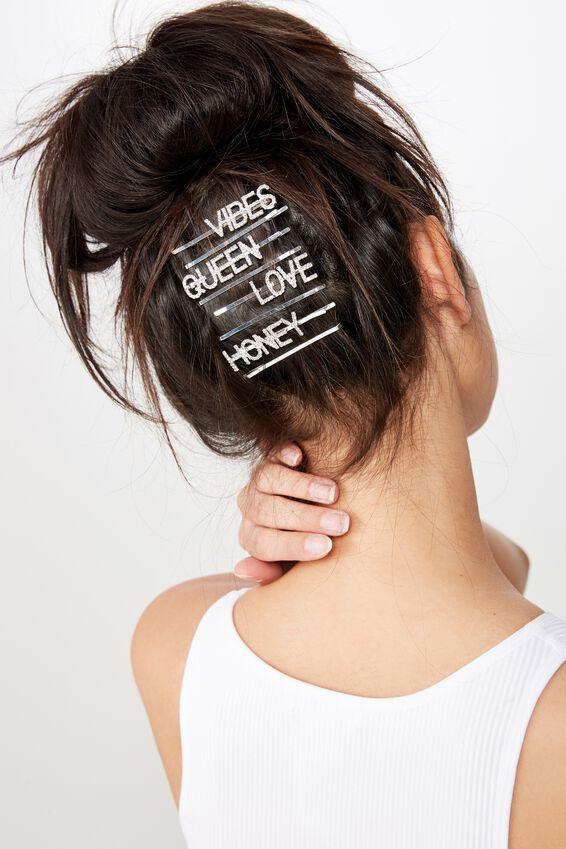 Embellished Hair Pins, HONEY