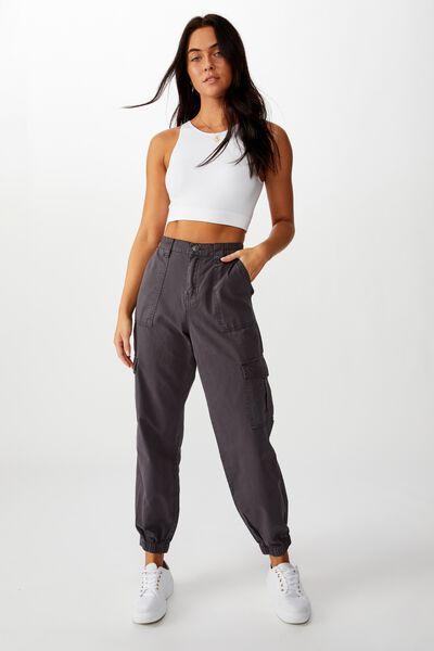 Kendra Cargo Pant, CHARCOAL