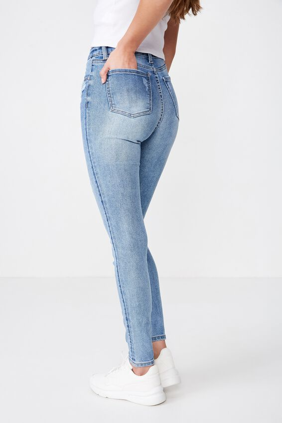 Long Leg Skinny Premium High Rise Jean, LAKE BLUE