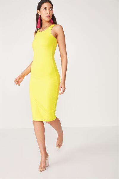 Sleeveless Midi Dress, BUTTERCUP