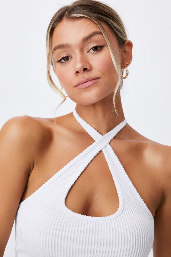 Jennifer Halter Cut Out Top, WHITE