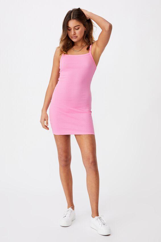 Emery Rib Mini Dress, TAFFY PINK