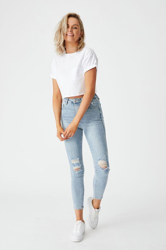 Ciara Crop T-Shirt, WHITE