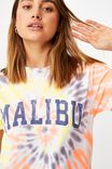 Tie Dye Malibu Tee, CIRCLE TIE DYE/MALIBU