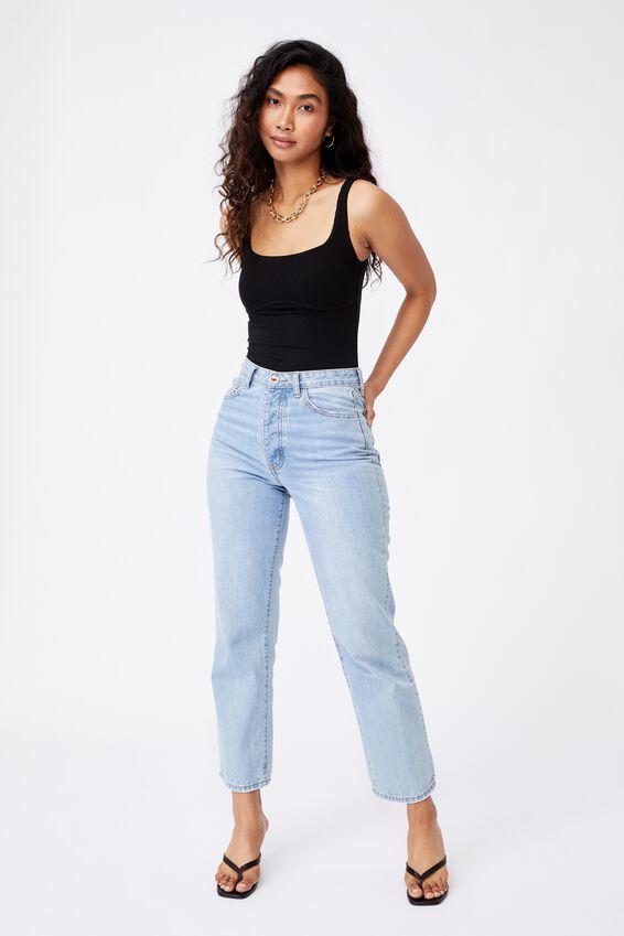 Gabrielle Rib Bodysuit, BLACK