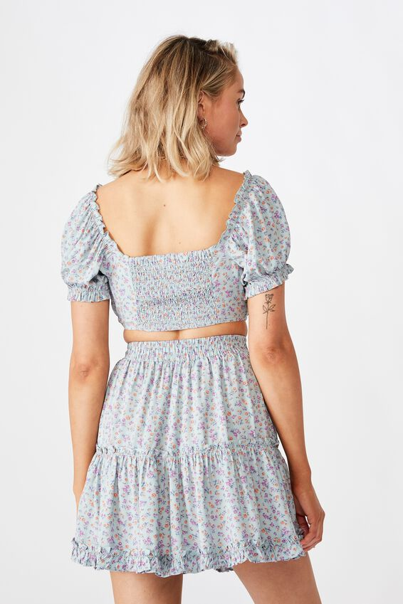 Maisie Tiered Skirt, DAPHNE FLORAL SAGE