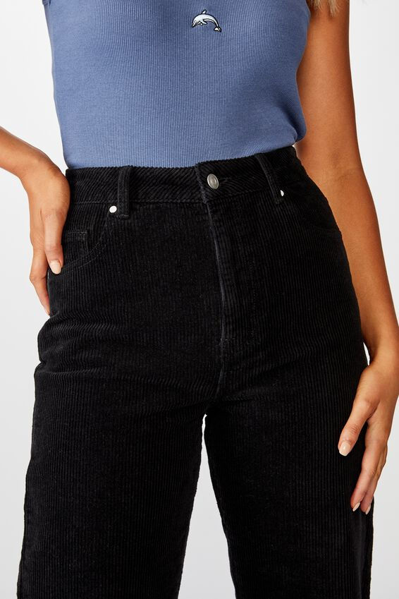 Charlee Cord Wide Leg Pant, BLACK