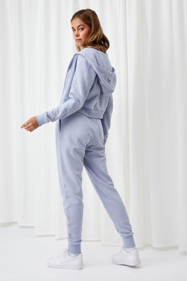 Elizabeth Zip Through Hoodie, LEISURE BLUE