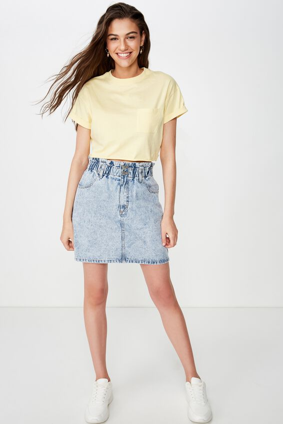 Ciara Crop Tee, DAISY YELLOW