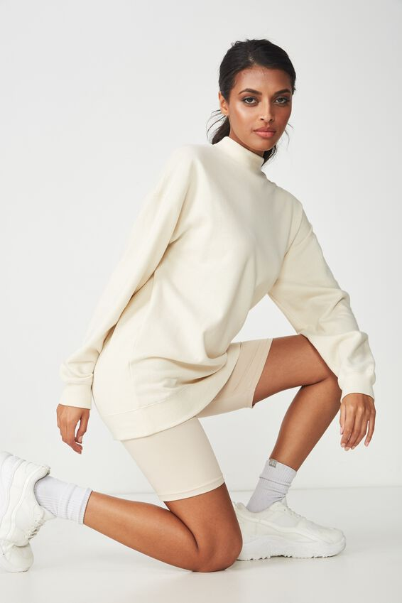 Lucy Long Sleeve Boyfriend Sweat, CREAM PUFF
