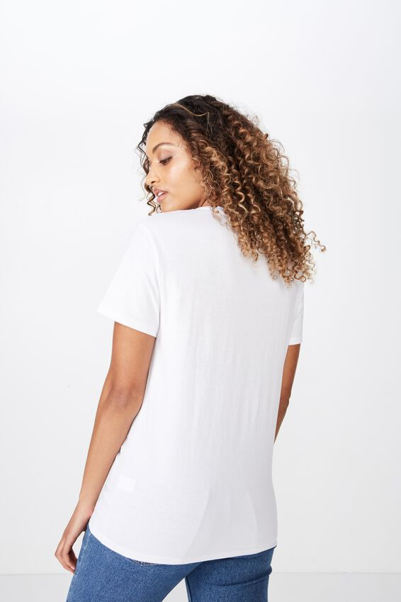 Lola Printed Longline Tee, WHITE/PALM SPRINGS