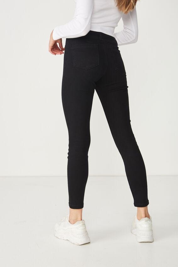 Short Super Skinny Jean, BLACK
