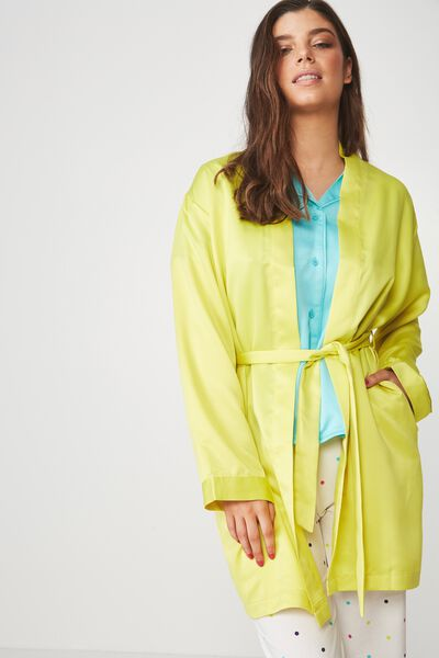 Satin Sleep Robe, LIMEADE