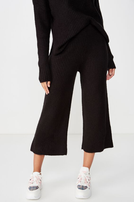 Connie Culotte Co-Ord, BLACK