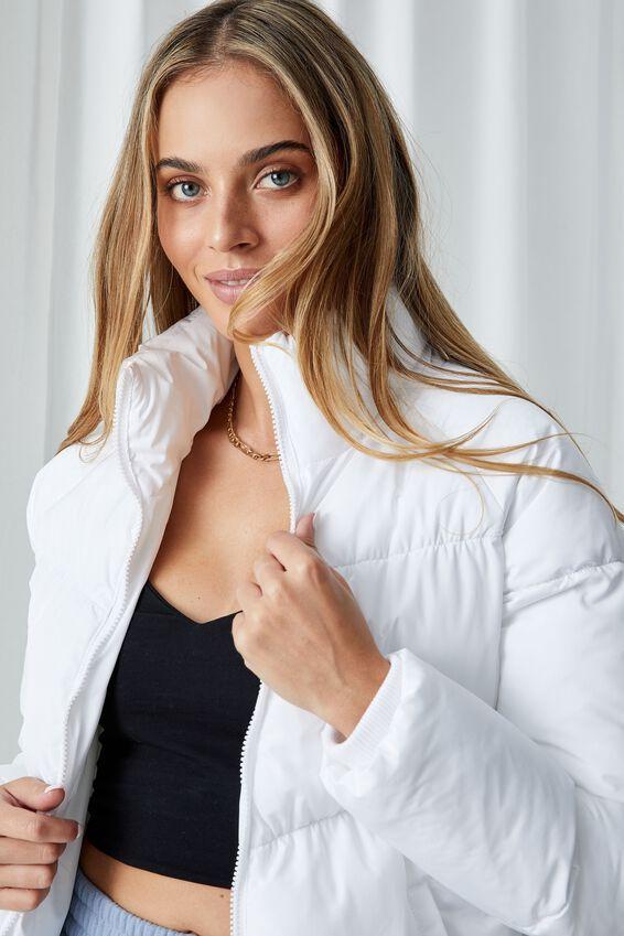 The Classic Feel-Good Puffer Jacket, WHITE