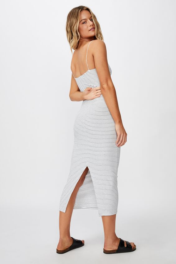 Riyah Maxi Dress, TERI STRIPE (WHT/BLK)