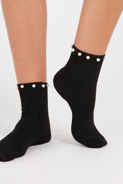 Pearl Socks, BLACK