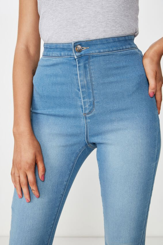 Short Leg Super Skinny Sky High Jean, LUNAR BLUE