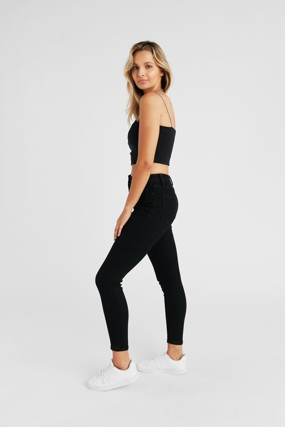 Long Leg Skinny Premium High Rise Jean, BLACK