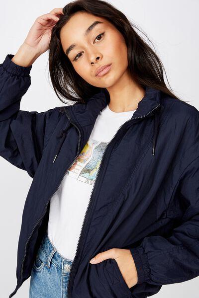 Coco Zip Thru Jacket, NAVY