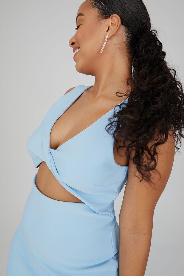 Maeve Twist Front Midi Dress, ISLAND BLUE
