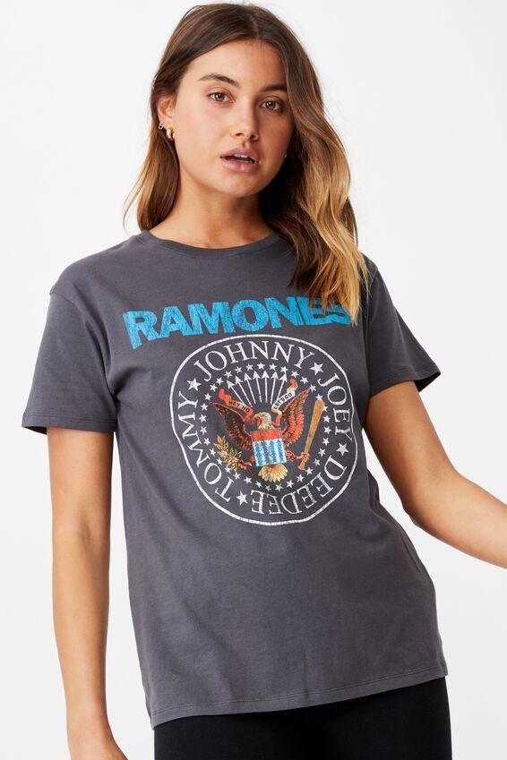 Ramones Tee, GRANITE GREY/LCN MT RAMONES EAGLE