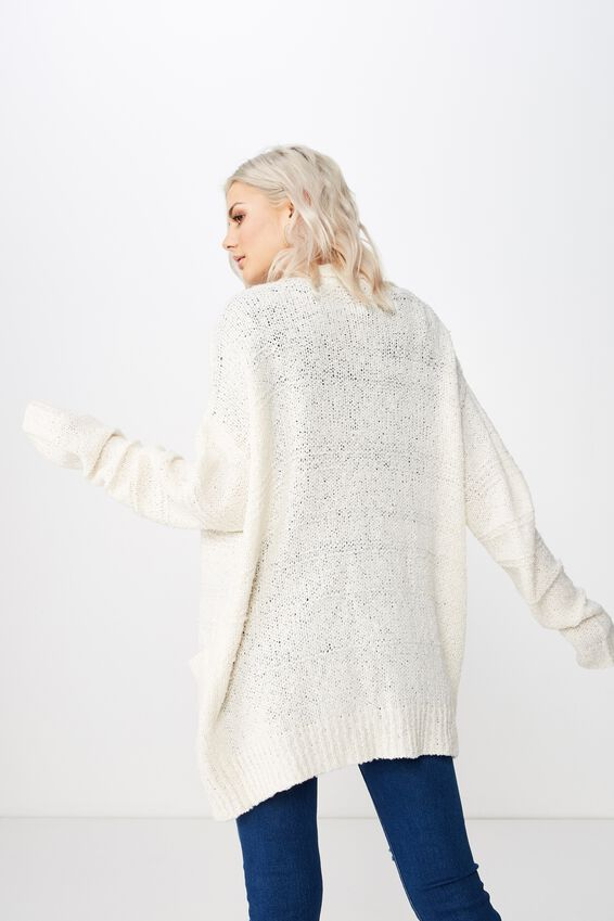 Lana Textured Knit Cardigan, MIST