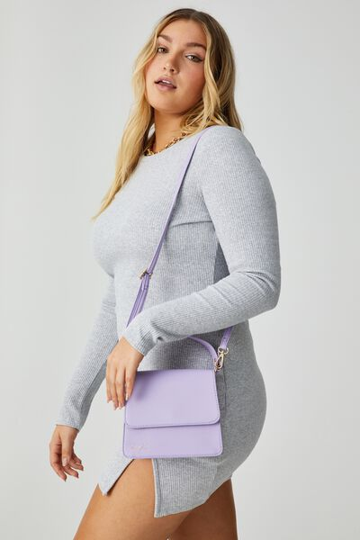 Personalised Beth Cross Body Bag, LILAC BLUSH TEXTURE