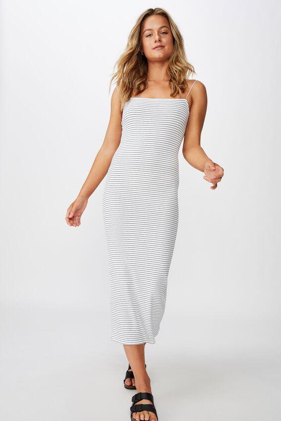 Riyah Maxi Dress, TERI STRIPE (WHT/BLK)