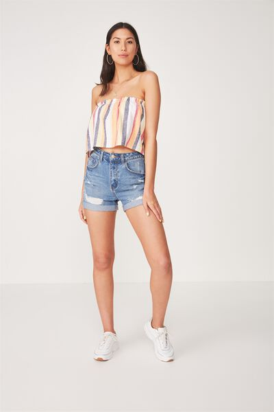 The Palm Beach Mom Short, MIDDLE BLUE WASHED OUT