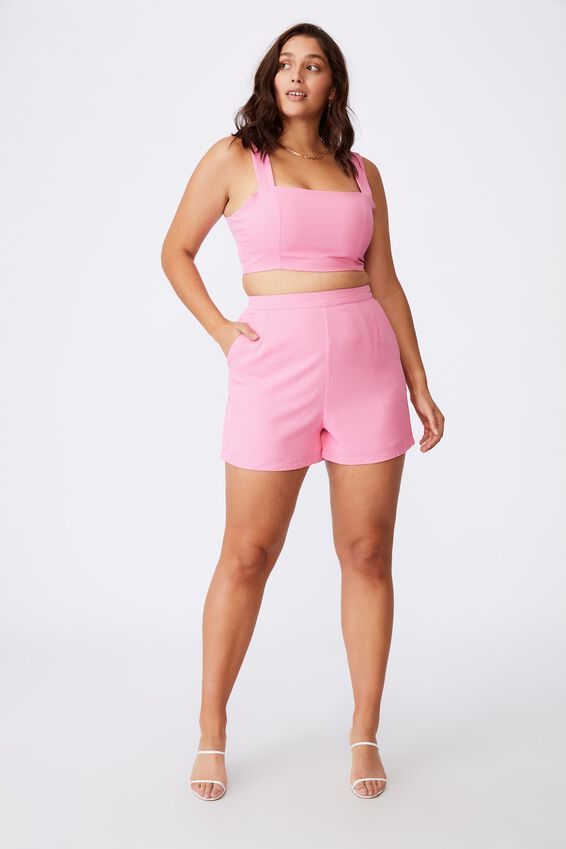 Celeste Crop Top, PUNCH PINK