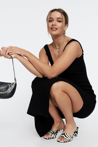 Jacinta Low Back Maxi Dress, BLACK