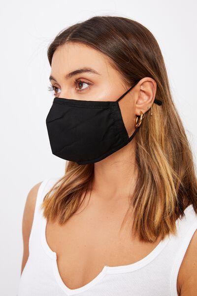 Supre Foundation Face Mask, BLACK