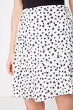 Macie Wrap Skirt, WHITE DITSY