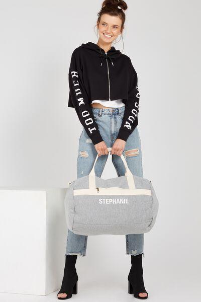 Jersey Duffle Bag, GREY MARLE