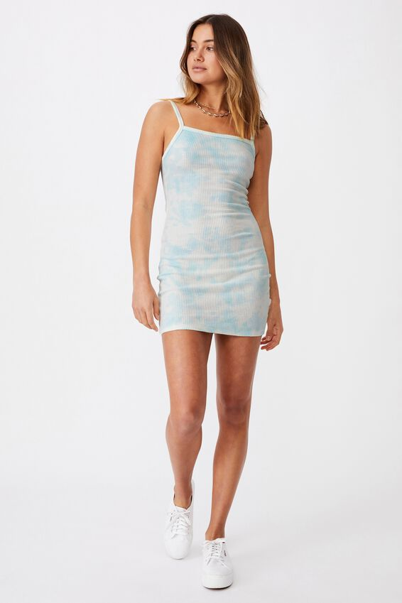 Emery Rib Mini Dress, TONAL TIEDYE REEF BLUE