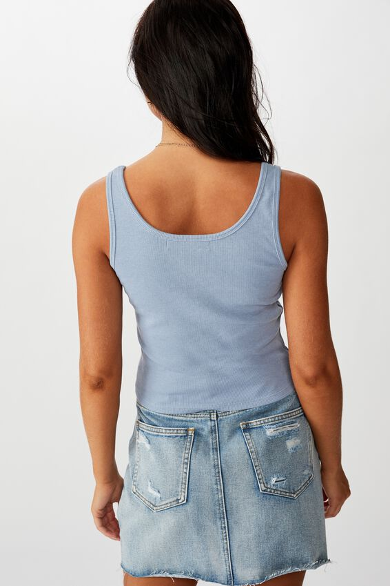 Michelle Graphic Fitted Tank, BLUE RIDER MARLE/DAISY