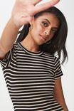 The London Rib T-Shirt Dress, LORI STRIPE