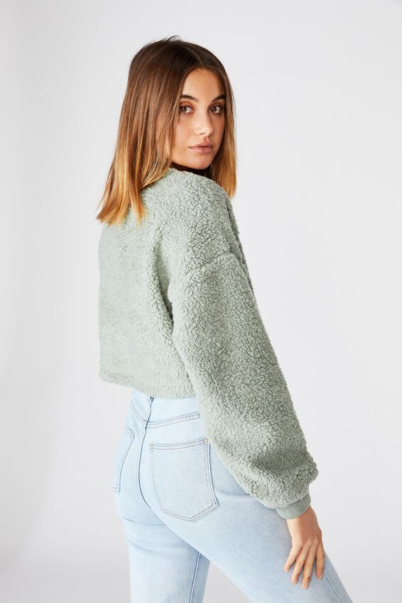 Isabella Crop Polar Fleece, DUST KHAKI